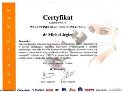 Dr Jegier certyfikat 12 - <span>dr n. med. Michał Jegier</span><br/>