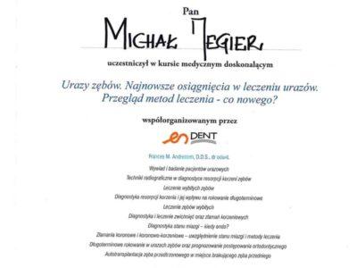 Dr Jegier certyfikat 2 - <span>dr n. med. Michał Jegier</span><br/>