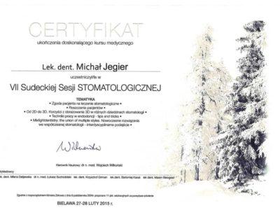 Dr Jegier certyfikat 4 - <span>dr n. med. Michał Jegier</span><br/>