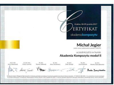 Dr Jegier certyfikat 6 - <span>dr n. med. Michał Jegier</span><br/>